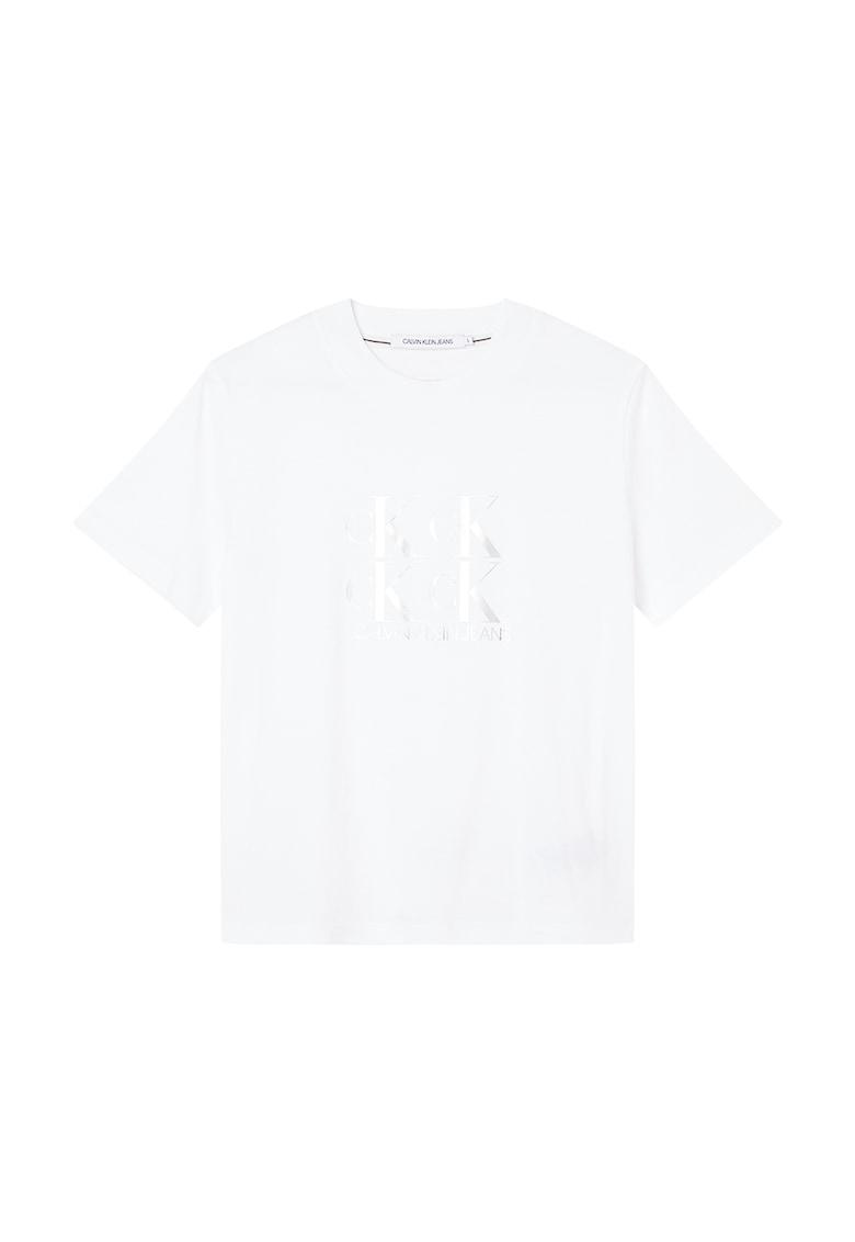 Tricou cu imprimeu logo metalizat CALVIN KLEIN JEANS fashiondays.ro