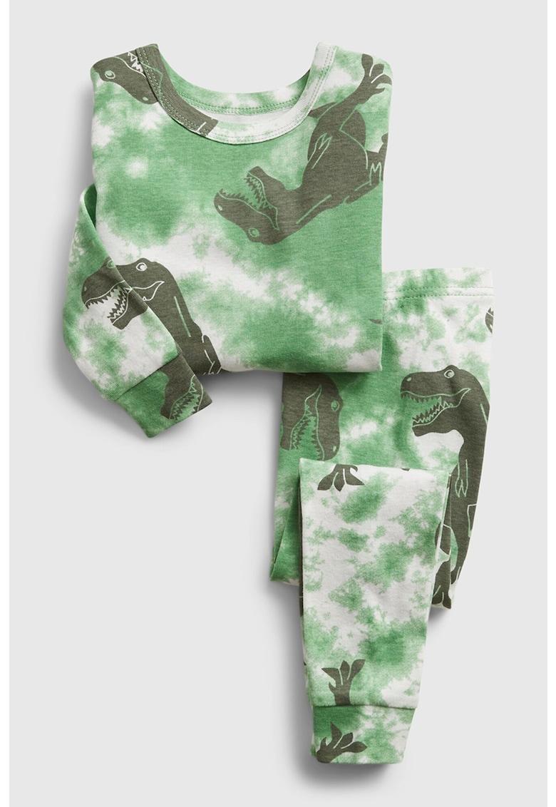 Pijama cu imprimeu grafic imagine fashiondays.ro GAP
