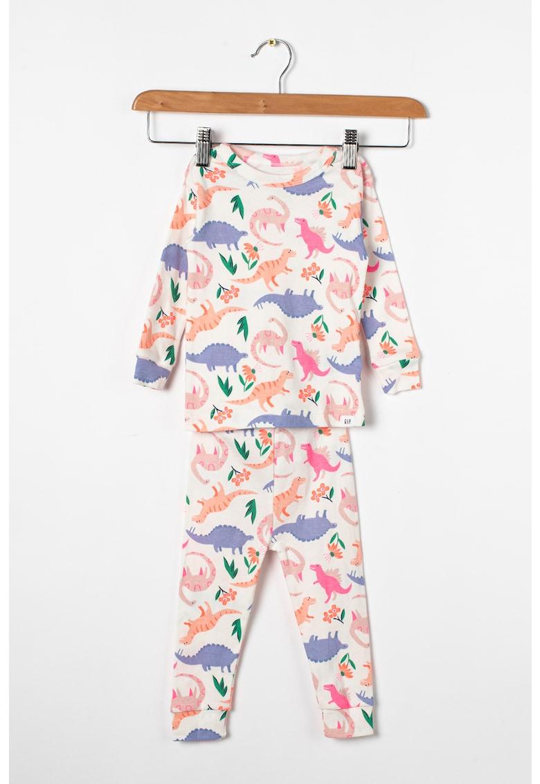 GAP Pijama cu maneci lungi si model cu dinozauri