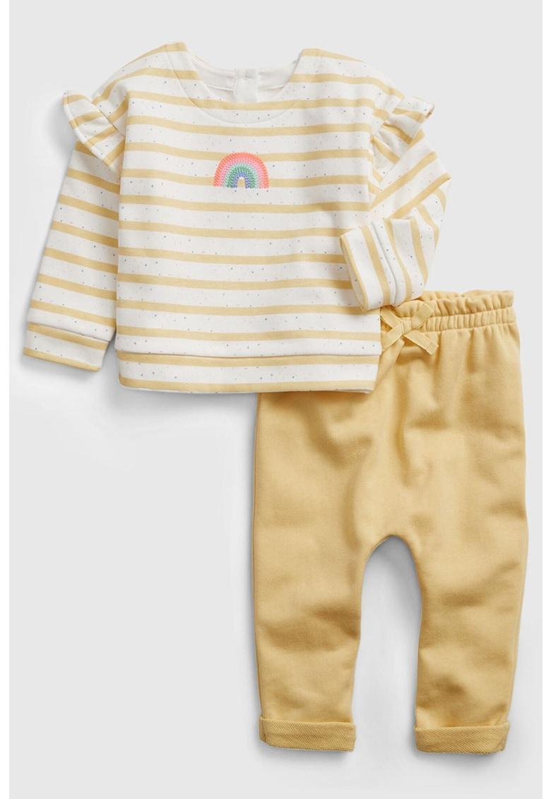Set de bluza si pantaloni imagine fashiondays.ro GAP