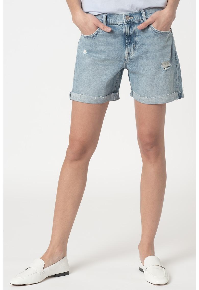Pantaloni scurti din enim - cu aspect deteriorat