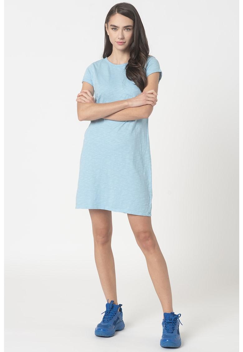 Rochie mini tip tricou cu buzunar aplicat pe piept