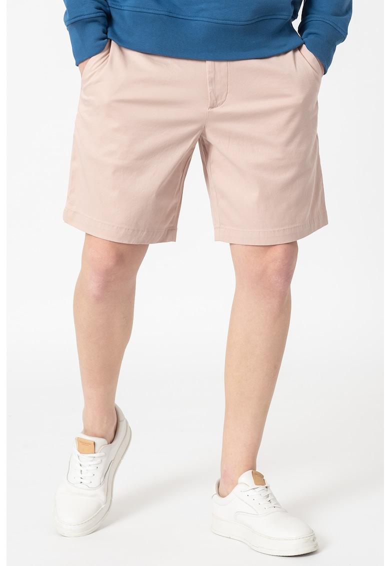 Pantaloni chino slim fit - din amestec de bumbac organic imagine fashiondays.ro Banana Republic