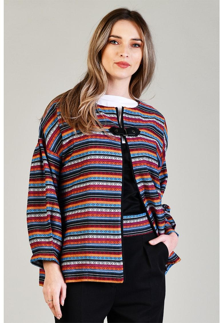 Sacou cu model etnic Format Lady fashiondays.ro