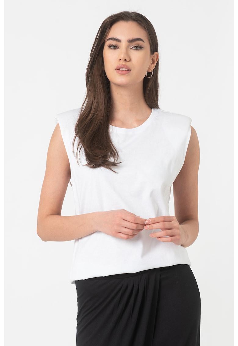 Tricou de bumbac organic cu umeri intariti imagine fashiondays.ro EDC by Esprit