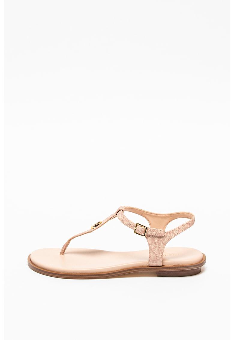 Sandale din piele ecologica cu bareta separatoare Mallory Michael Kors fashiondays.ro