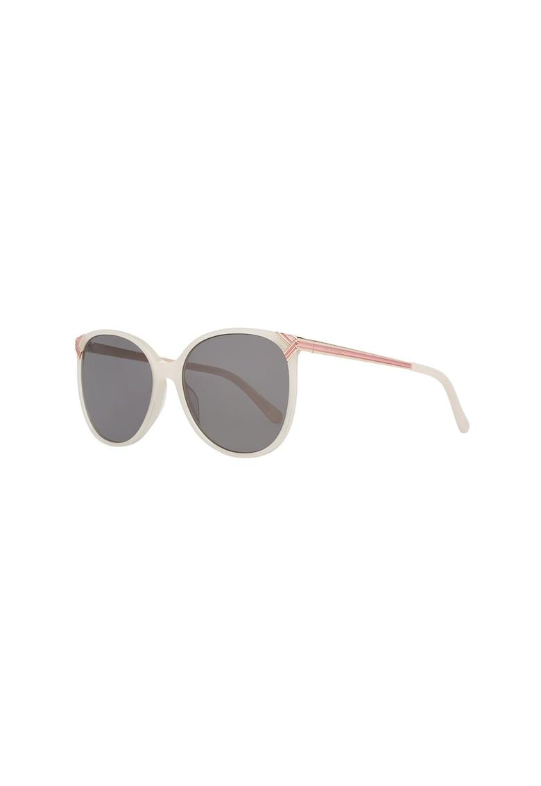 Ochelari de soare ovali cu detalii contrastante Ted Baker fashiondays.ro