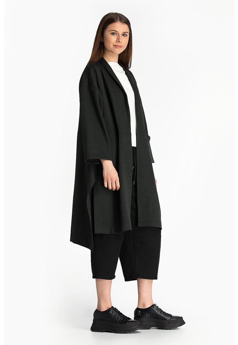 Cardigan lung din amestec de lana fara inchidere imagine fashiondays.ro Antonia M
