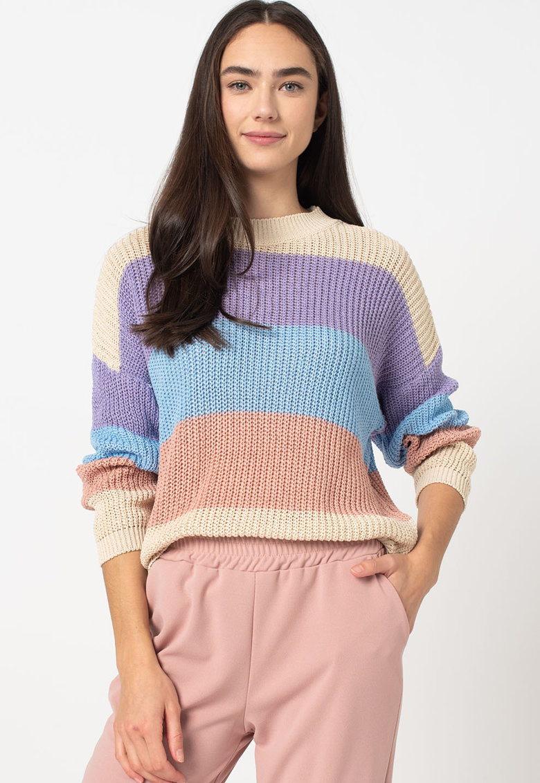 Pulover tricotat cu maneci cazute imagine fashiondays.ro 2021