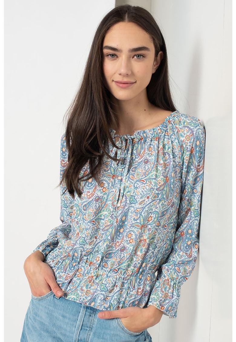 Bluza cu imprimeu cu terminatie peplum