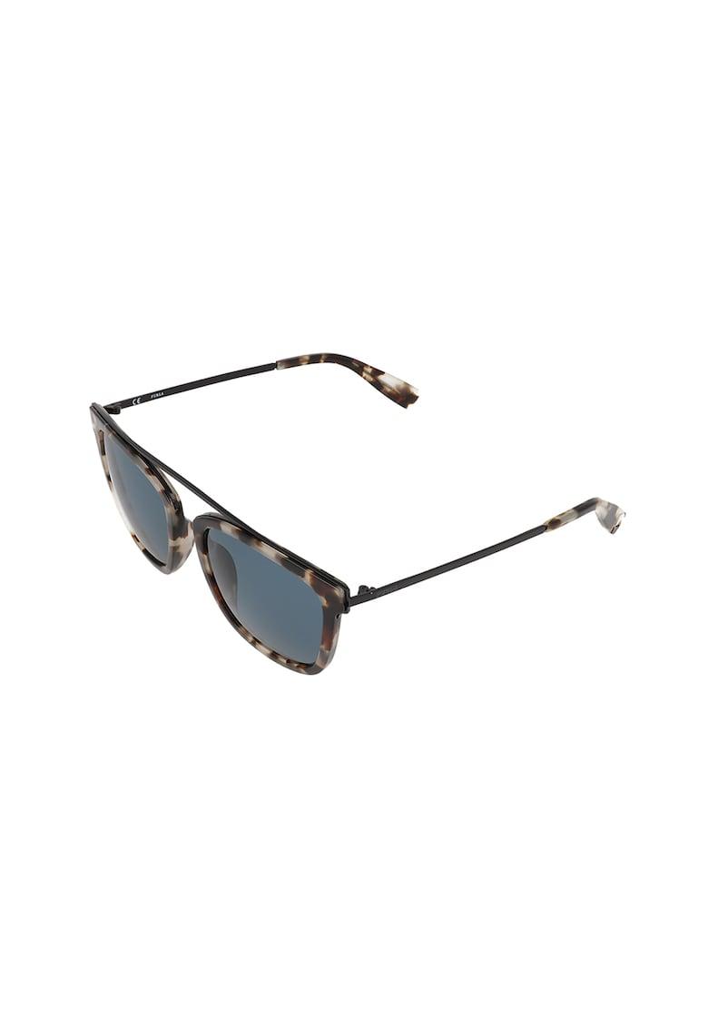 Ochelari de soare cat-eye cu rama metalica Furla fashiondays.ro