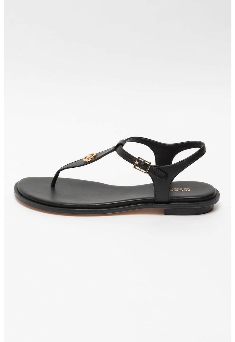Sandale de piele cu bareta separatoare Mallory Michael Kors fashiondays.ro
