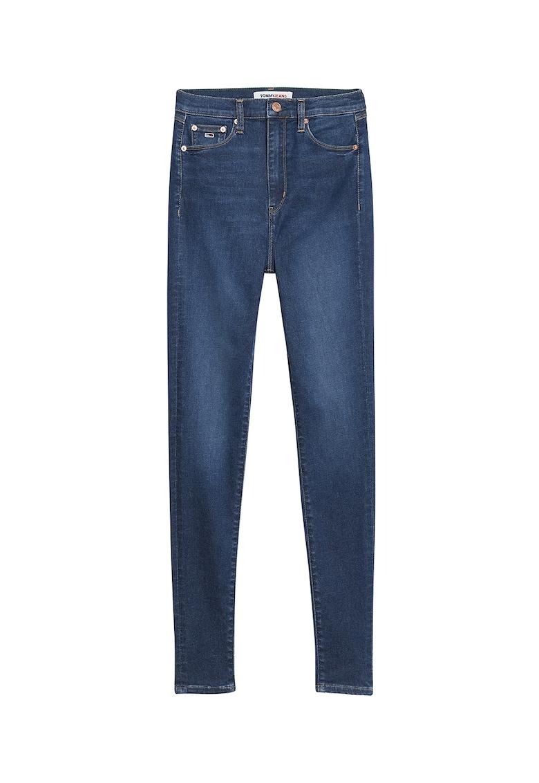 Blugi slim fit cu aspect decolorat de la Tommy Jeans