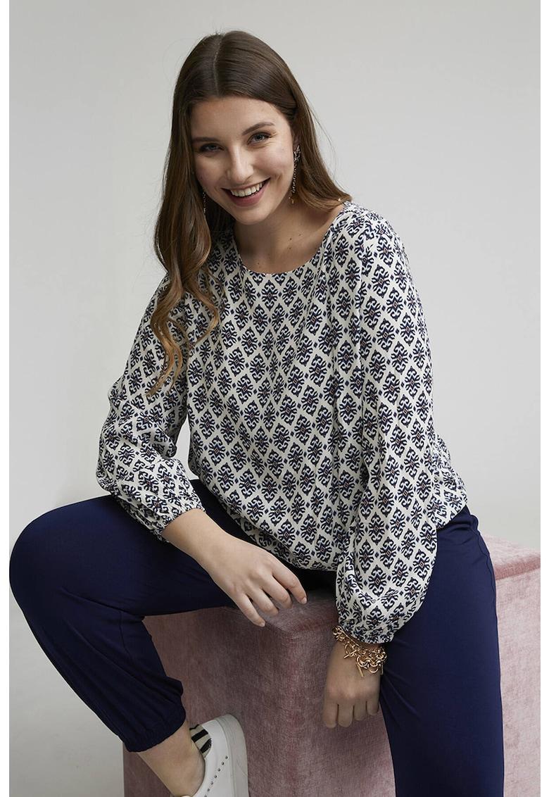 Bluza din viscoza cu imprimeu de la Fiorella Rubino