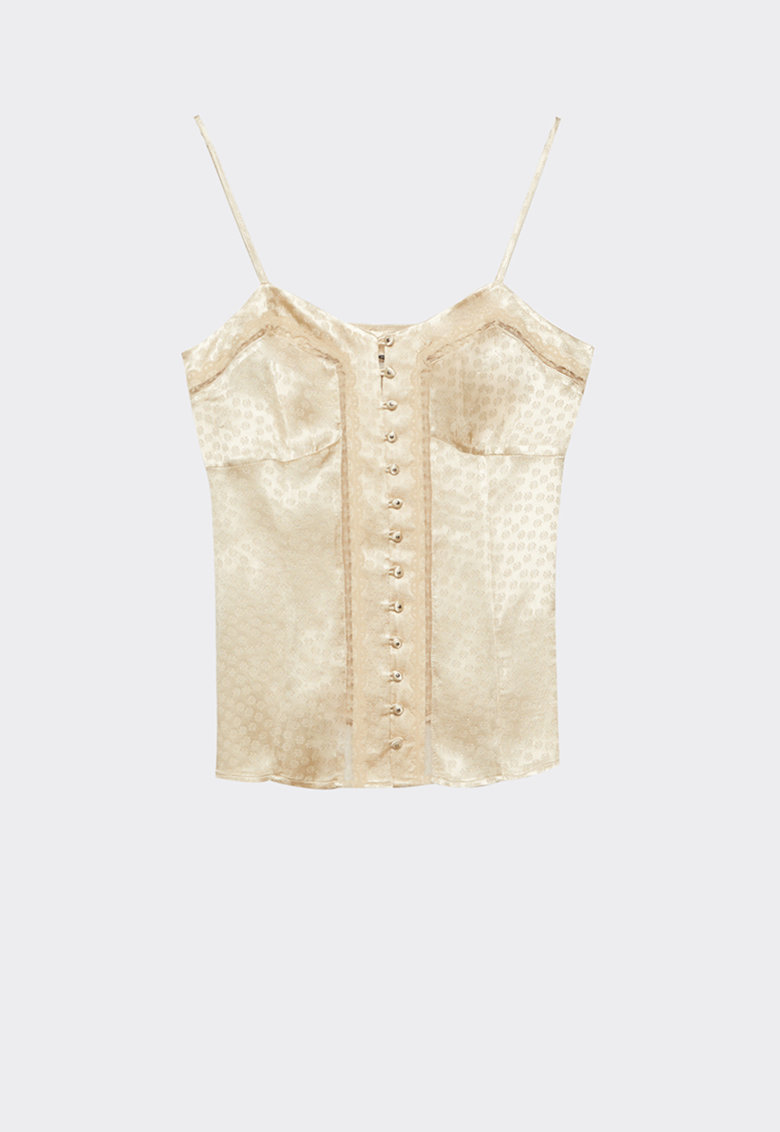 Bluza fara maneci cu nasture imagine fashiondays.ro Motivi