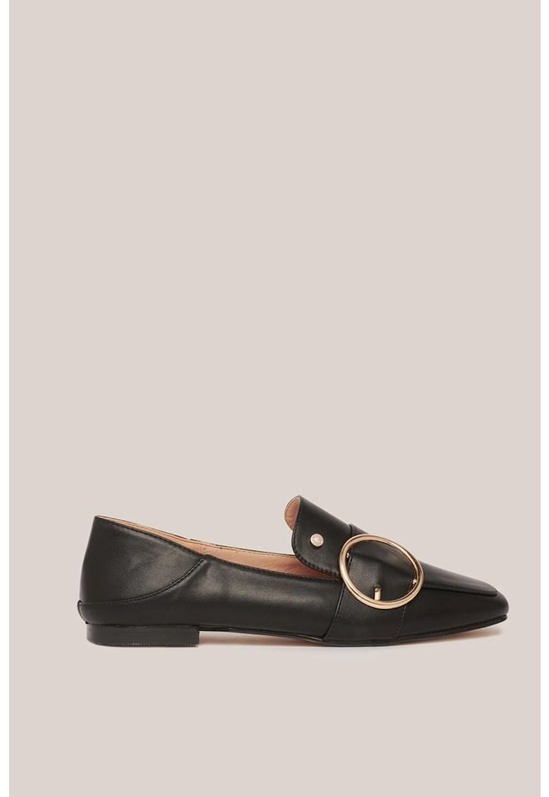 Pantofi loafer din piele ecologica cu detaliu inel Oltre fashiondays.ro