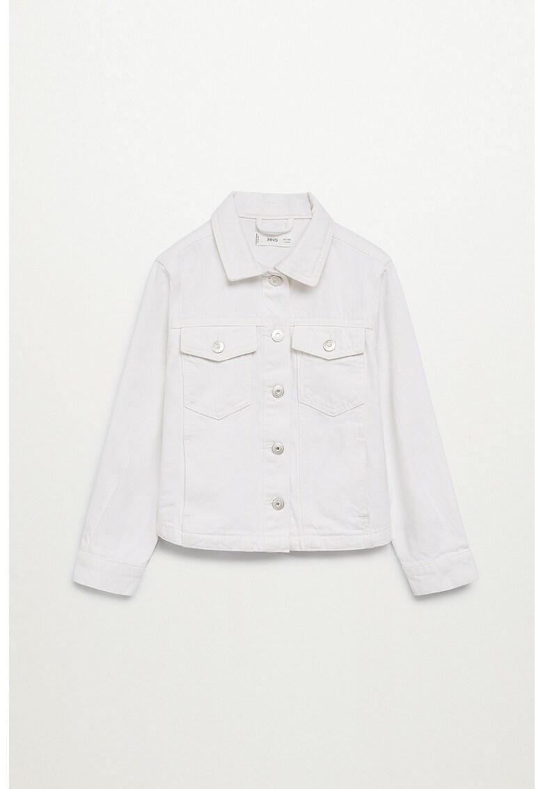 Jacheta din denim cu buzunare pe piept Sandy