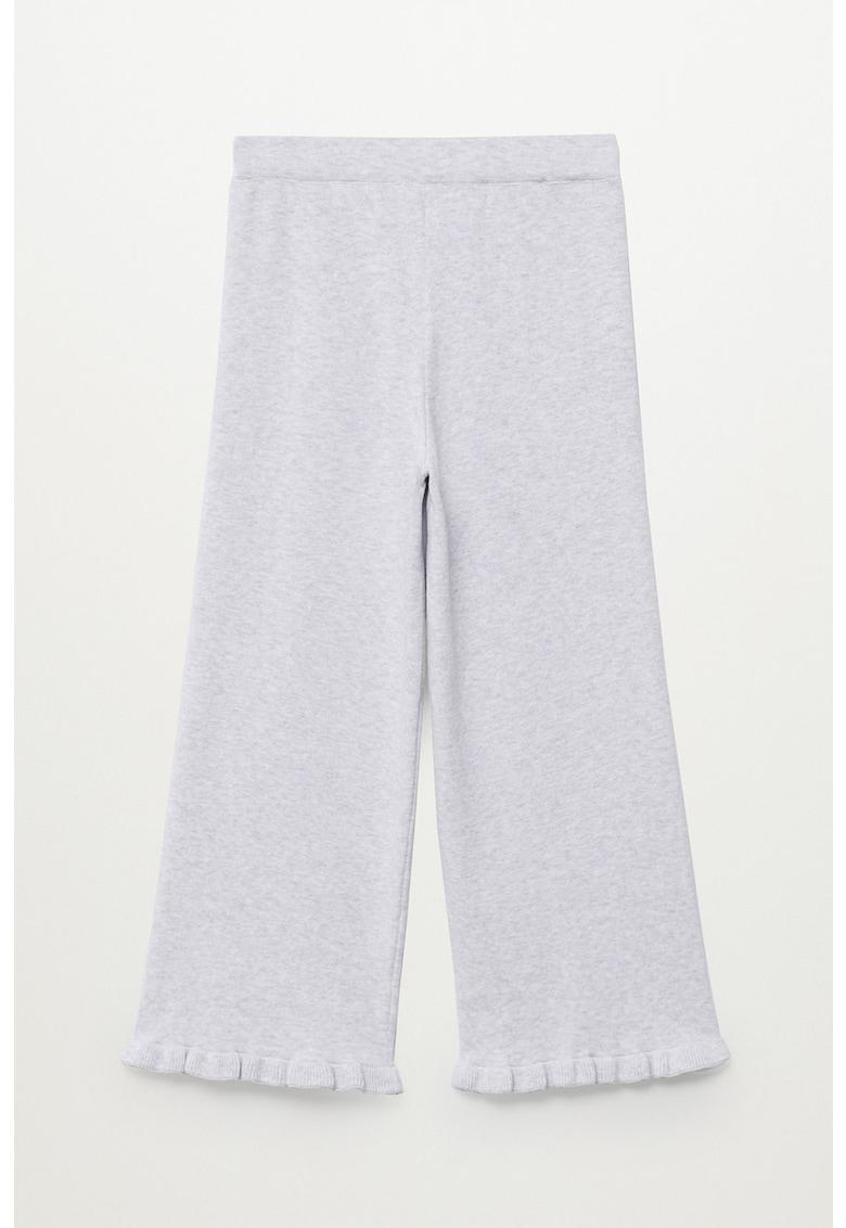 Pantaloni tricotati fin cu terminatii striate Marion imagine fashiondays.ro