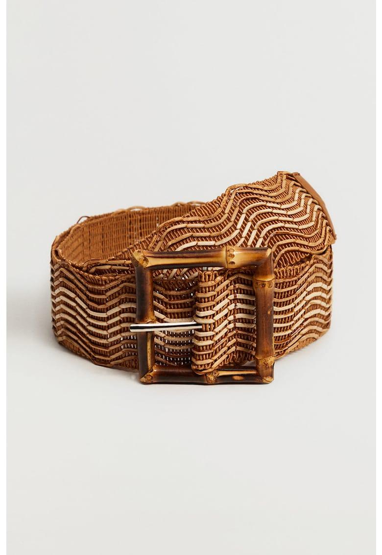 Curea cu catarama din bambus Bamboo imagine fashiondays.ro VIOLETA BY MANGO
