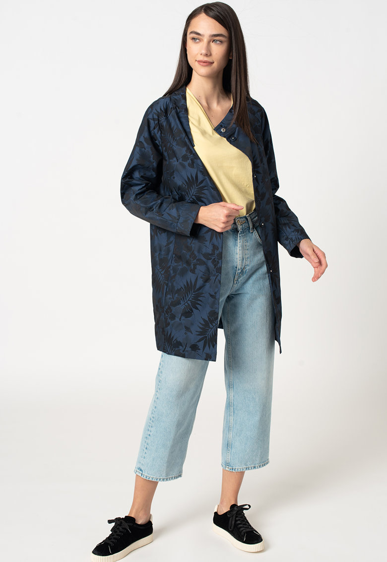 Jacheta lunga cu imprimeu imagine fashiondays.ro 2021