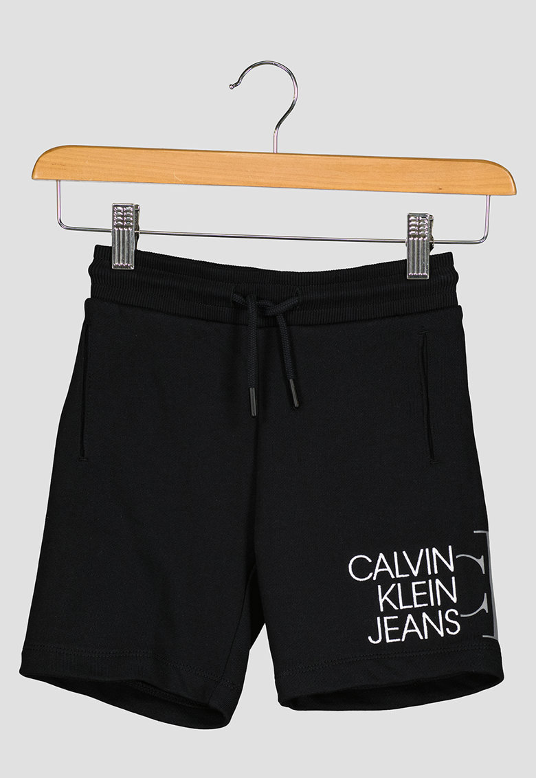 Pantaloni scurti de bumbac organic cu logo imagine fashiondays.ro 2021