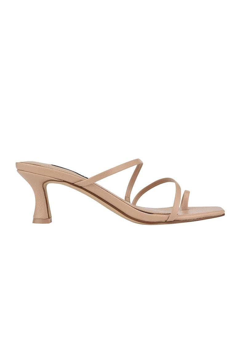 Papuci din piele ecologica cu toc Alla imagine fashiondays.ro NINE WEST
