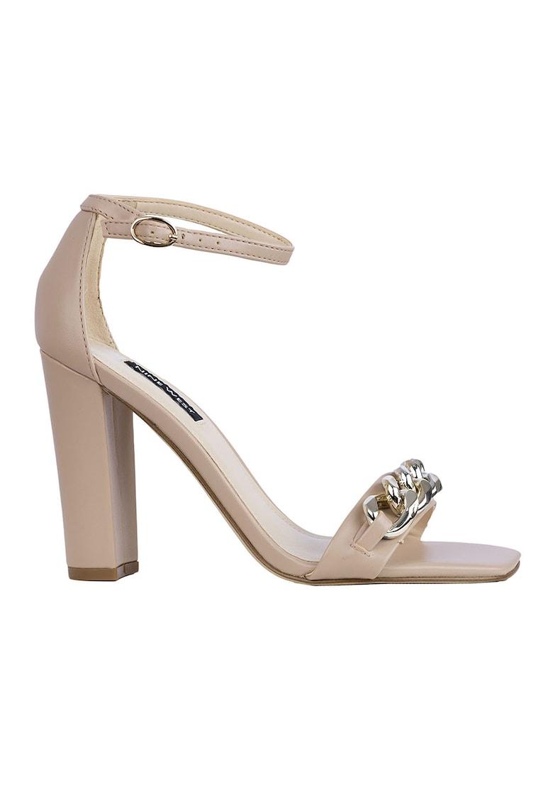 Sandale din piele ecologica cu toc inalt Mindful de la NINE WEST
