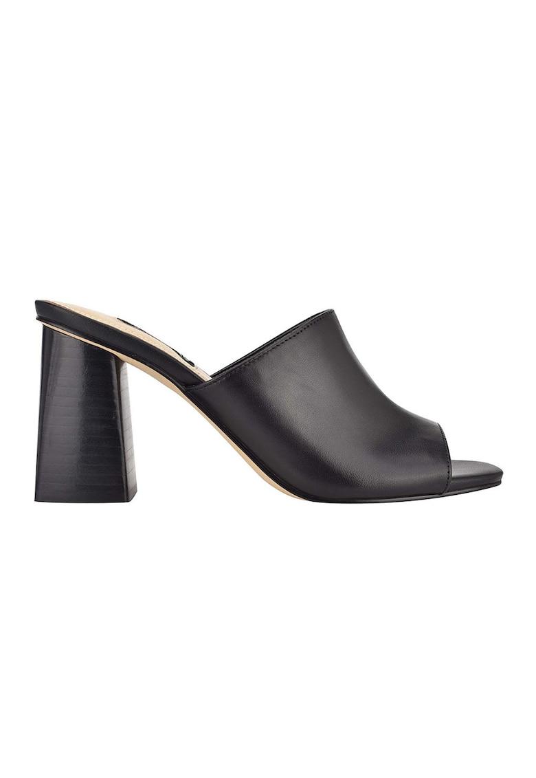 Papuci din piele cu toc Yuna imagine fashiondays.ro 2021