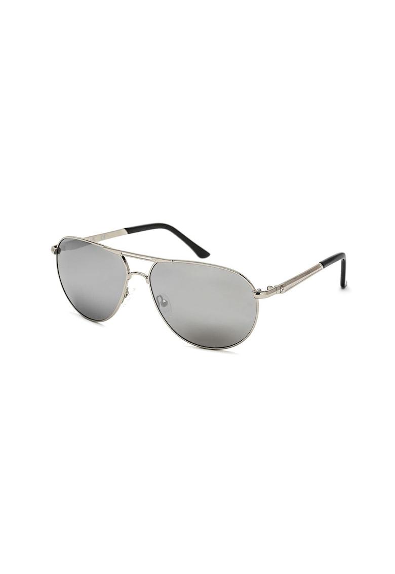 Ochelari de soare aviator unisex cu rama metalica imagine fashiondays.ro Guess