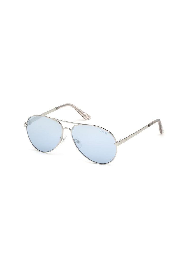 Ochelari de soare aviator unisex cu lentile in degrade imagine fashiondays.ro Guess