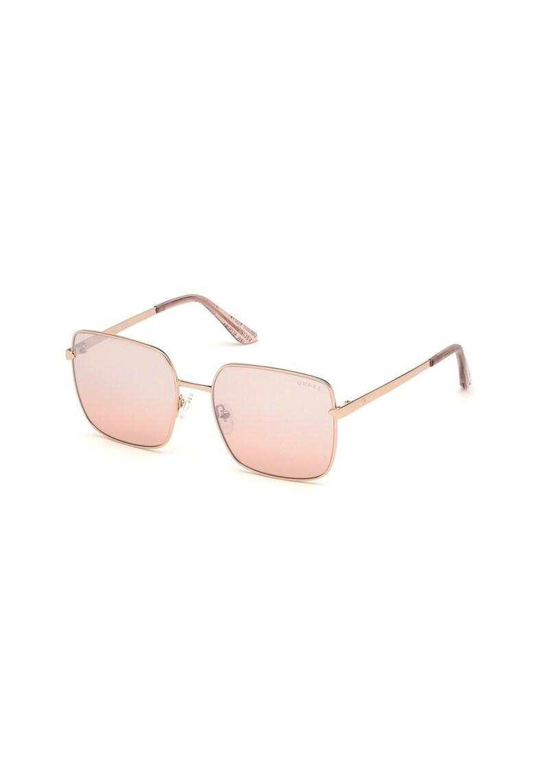 Ochelari de soare patrati cu lentile uni de la Guess
