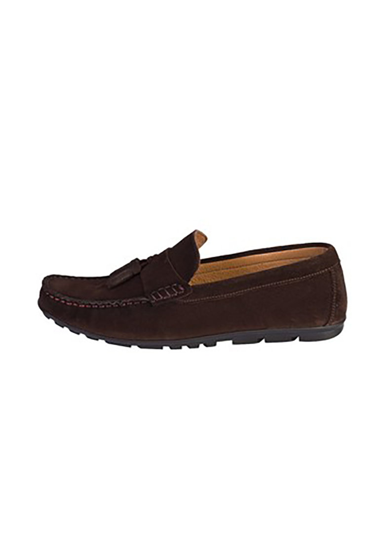 KIGILI Pantofi loafer de piele intoarsa cu varf rotund