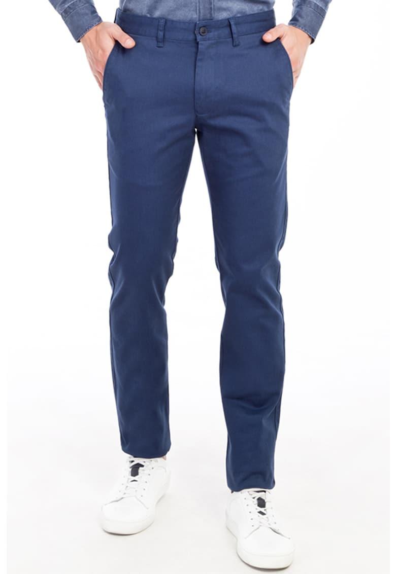 Pantaloni slim fit cu buzunare laterale de la KIGILI