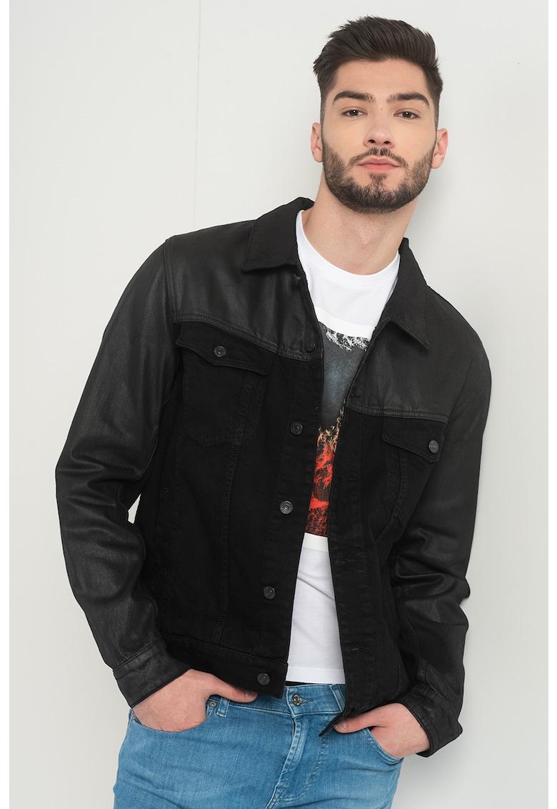 Jacheta din denim cu detalii peliculizate Perfect