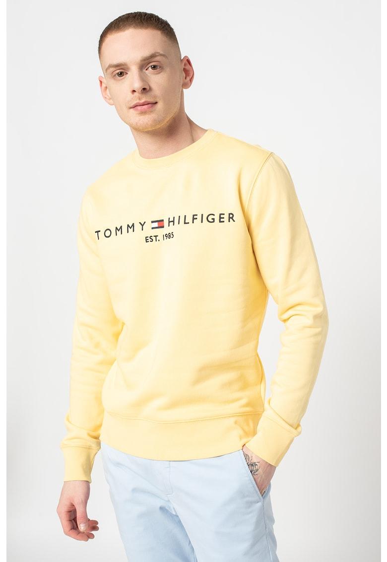 Bluza sport din amestec de bumbac organic cu decolteu la baza gatului imagine fashiondays.ro Tommy Hilfiger