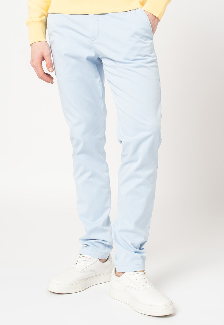 Pantaloni chino slim fit din amestec de bumbac organic Bleecker