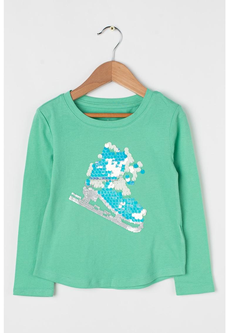 Bluza cu aplicatii cu paiete imagine fashiondays.ro GAP
