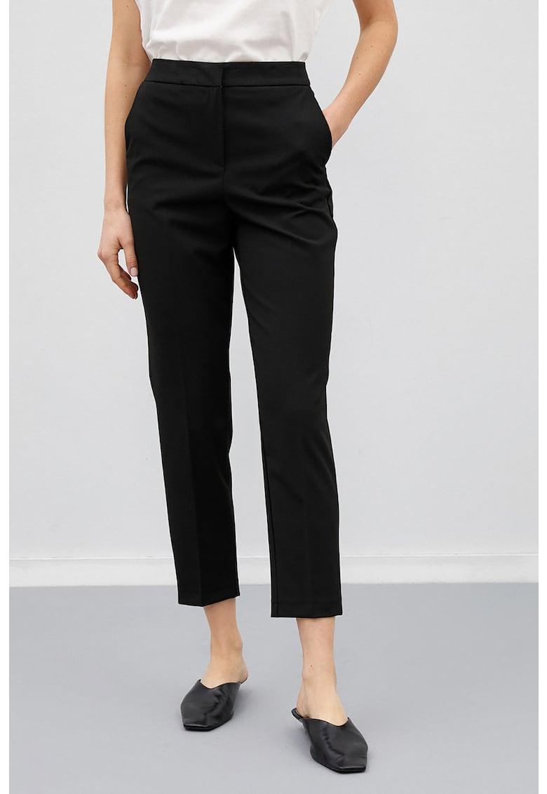 Pantaloni crop cu talie inalta imagine fashiondays.ro