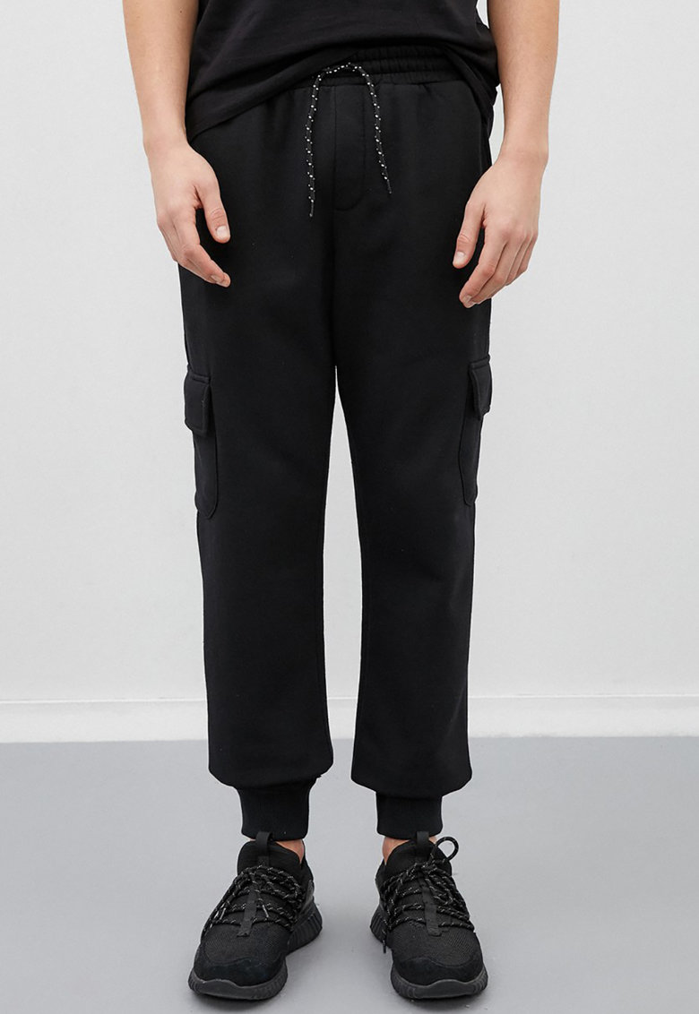 KOTON Pantaloni jogger cargo cu snur de ajustare