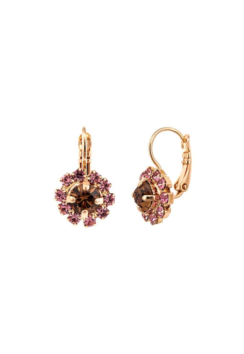 Cercei placati cu aur de 24K - cu cristale Swarovski de la Roxannes - Mariana Jewellery