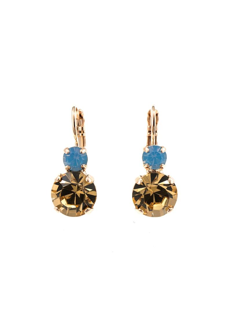 Roxannes - Mariana Jewellery Cercei placati cu aur rose de 24K decorati cu cristale Swarovski