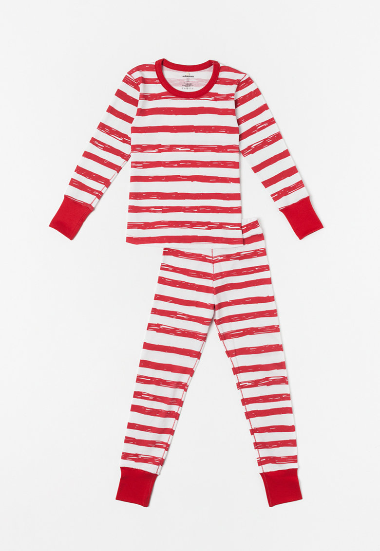 Pijama din bumbac organic Funky imagine fashiondays.ro 2021