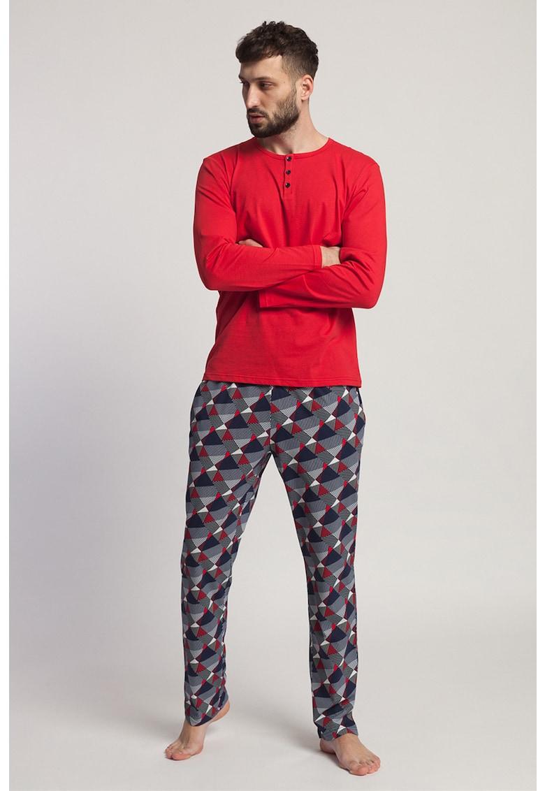 Sofiaman Pijama din jerseu cu model geometric Gilbert