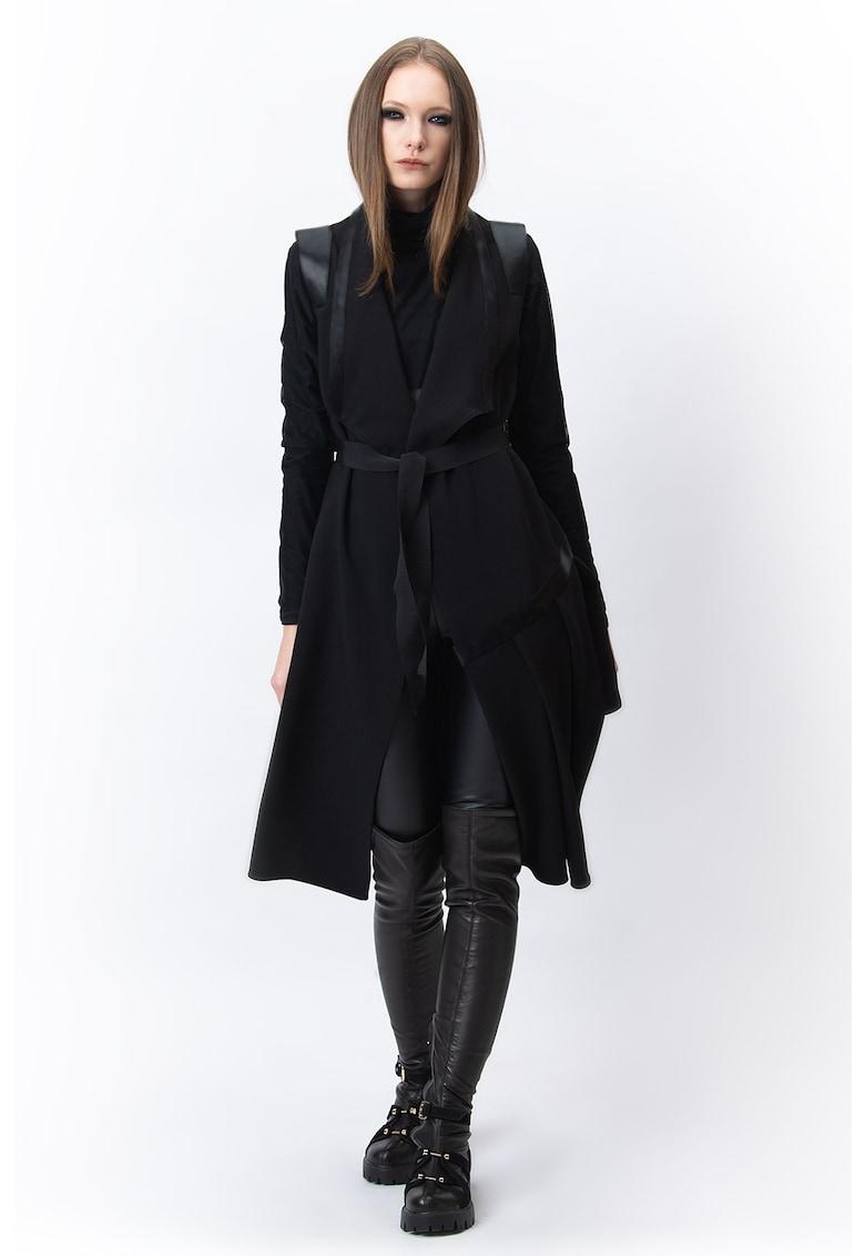 Cardigan cu un cordon in talie Rebecca imagine fashiondays.ro A&S Negulescu