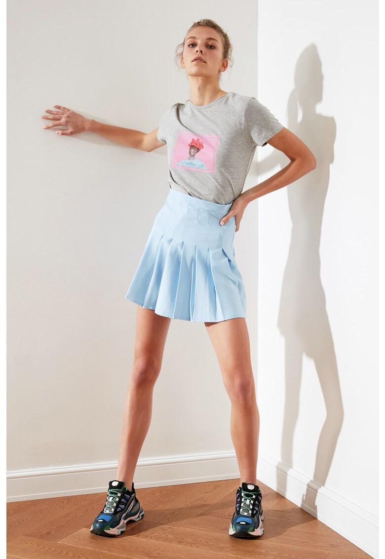 Fusta mini cu pliuri imagine fashiondays.ro