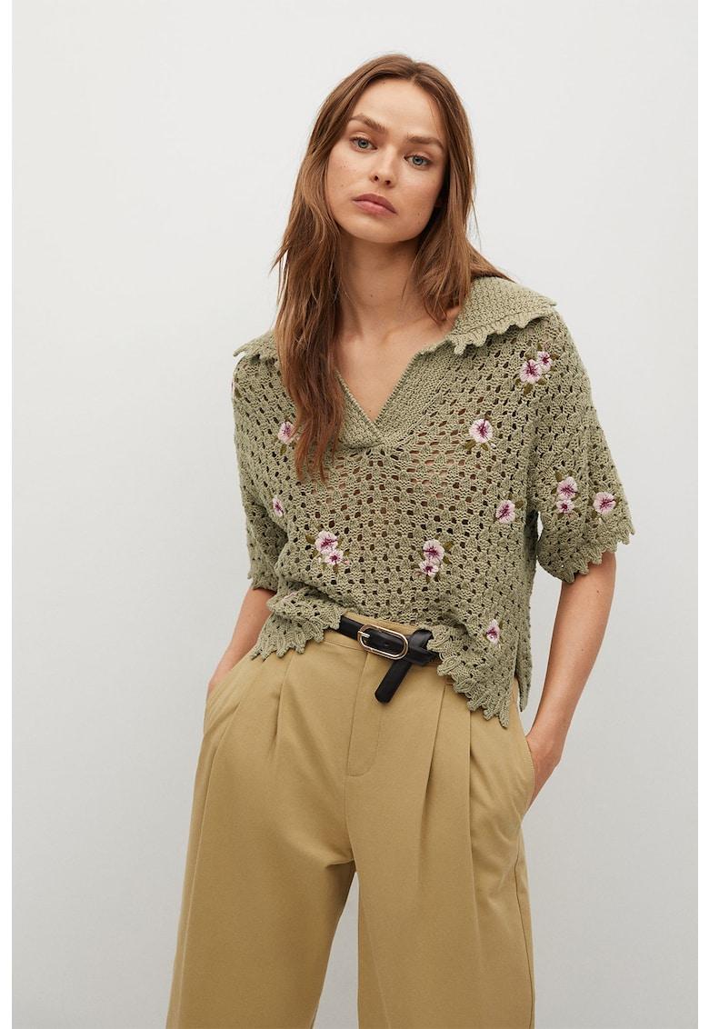 Bluza crosetata cu model floral Lorea imagine fashiondays.ro Mango