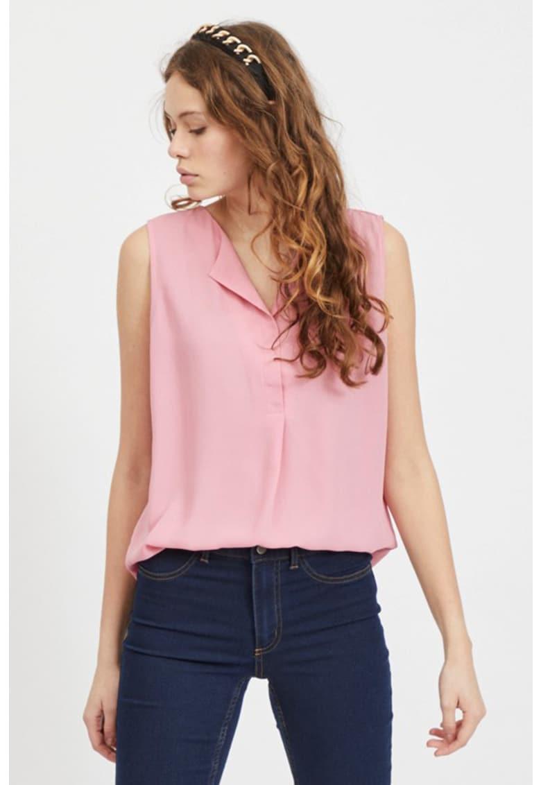 Bluza vaporoasa - fara maneci Lucy imagine fashiondays.ro Vila