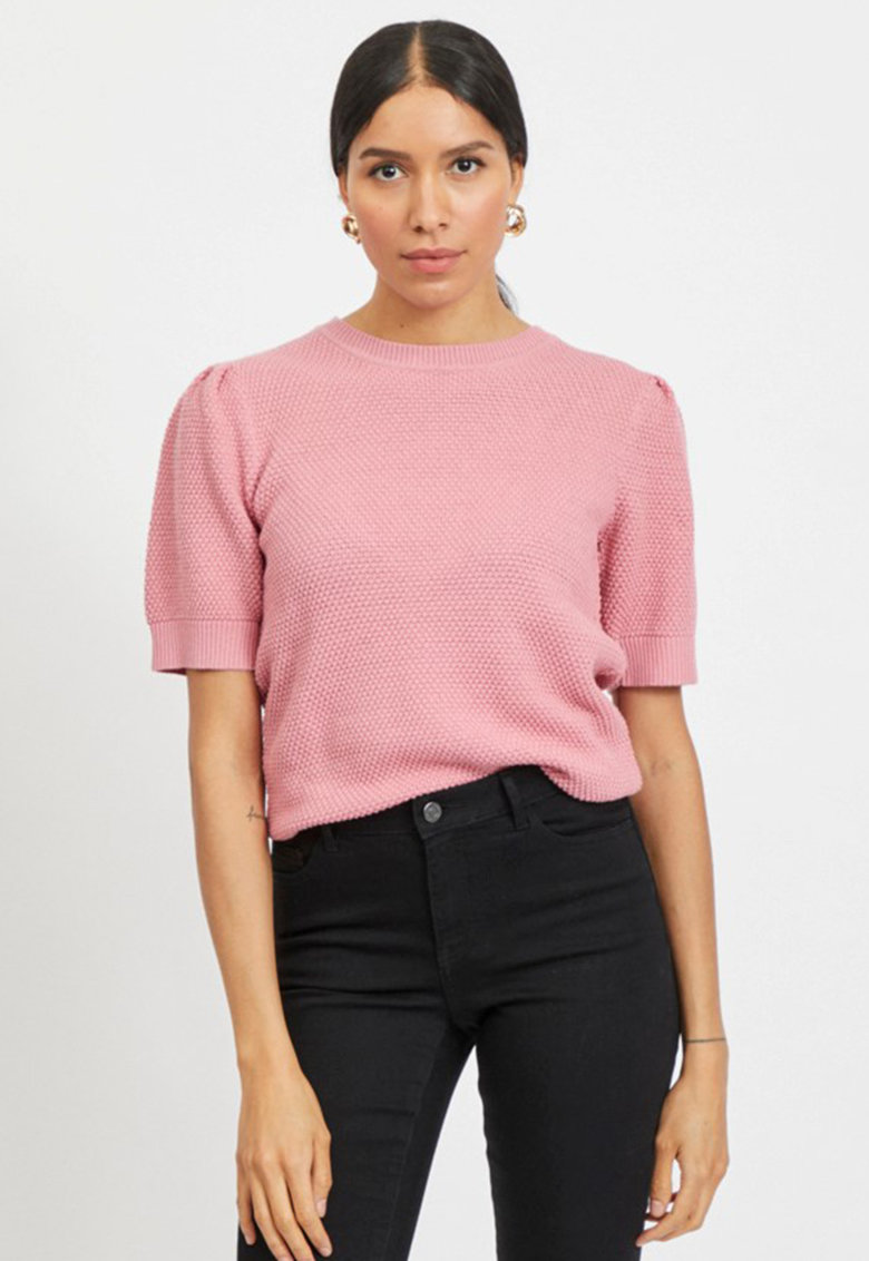 Bluza tricotata cu maneci medii imagine fashiondays.ro Vila