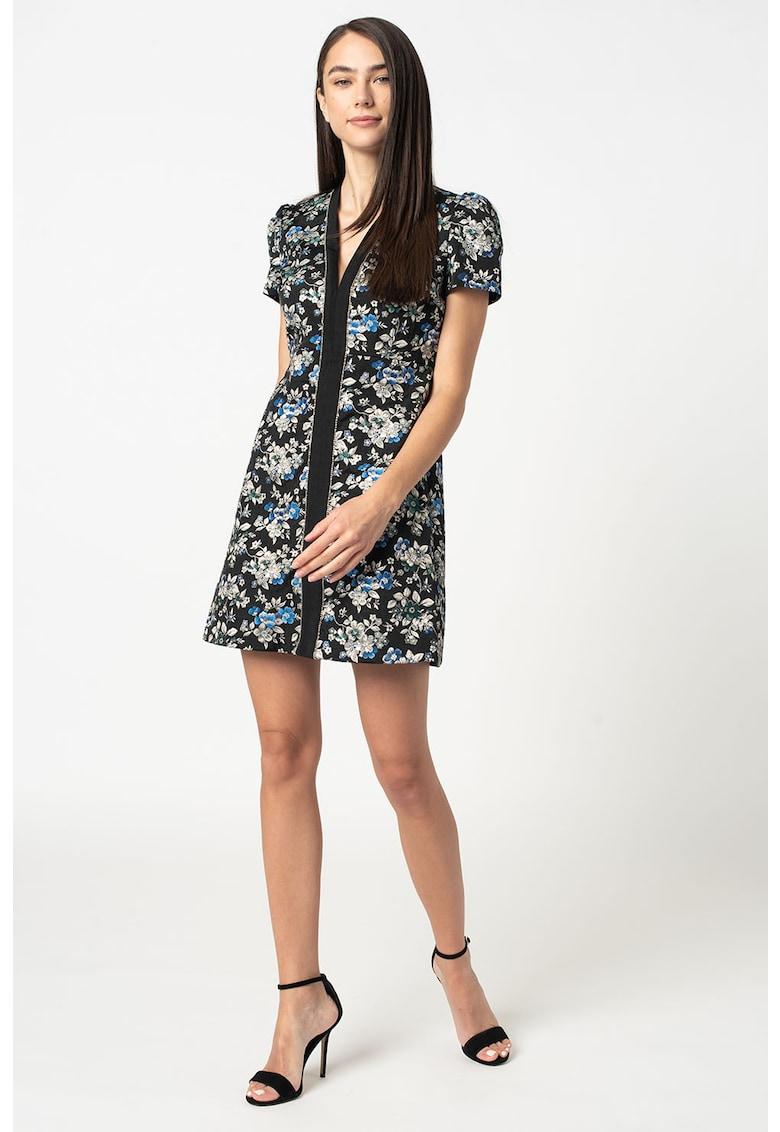Rochie scurta cu model floral Arrichito Pinko fashiondays.ro