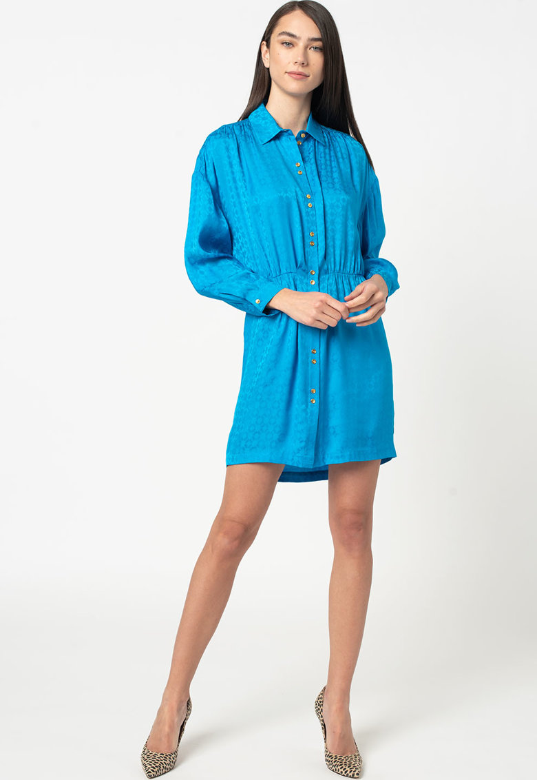 Rochie tip camasa cu model geometric Degno